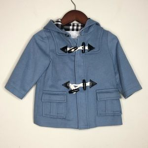 Burberry Sz 12M Toggle Button Hooded Pea Coat